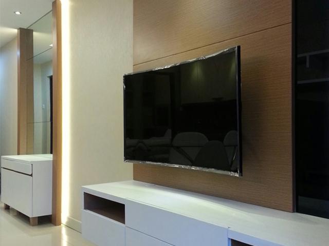 Backdrop TV Apartemen Taman Sari Semanggi