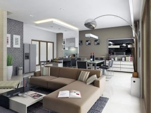 kontraktor interior Living room Mr. Suryo - Ciputat Residence
