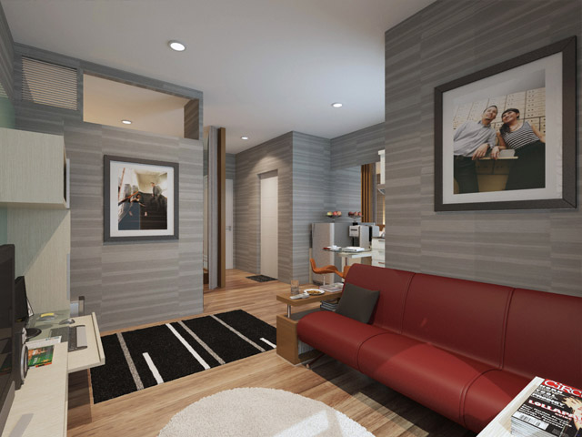 Living room 3 Apartemen Mrs. Indah Menteng SQ