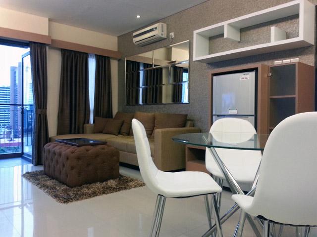 Living room Apartemen Mr. Ferry Taman Sari