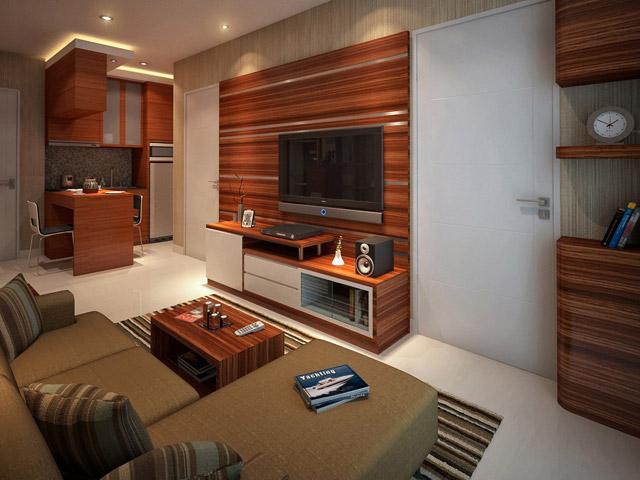 Living room Apartemen Mrs. Tuti Cervino